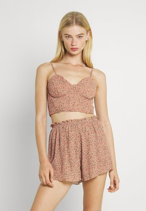 DITSY CRINKLE BRALET AND SHORTS SET - Top - multi