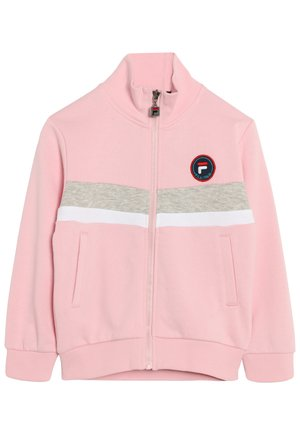 Mikina na zip - pink mist-light grey melange