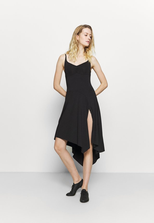 ASYMMETRICAL HEM TANK DRESS - Jurken - black
