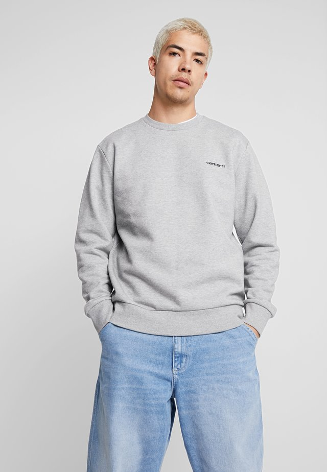 SCRIPT EMBROIDERY - Sweatshirt - grey heather/black