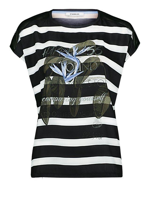 PUBLIC - Print T-shirt - schwarz/weiß