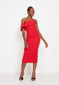 True Violet - FRILL - Shift dress - red - 1