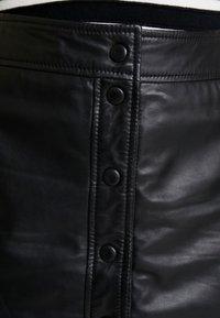 Ibana - ABBY - Leather skirt - black - 4