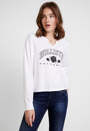 LONG SLEEVE DESTINATION - Long sleeved top - white