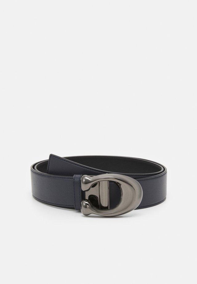 DRESS SMOOTH BELT - Belt - midnight/black