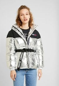 Tommy Jeans - BELTED JACKET - Winter jacket - silver - 0