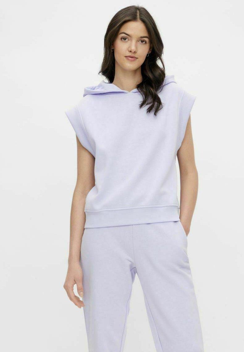 Pieces - Print T-shirt - purple heather