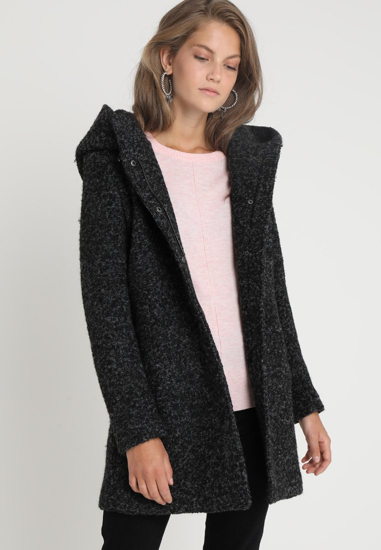 ONLY - ONLSEDONA COAT - Kort kappa / rock - black/melange