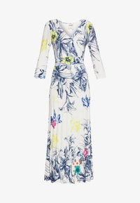 Ivko - VNECK DRESS FLORAL PRINT - Maxi šaty - white - 3