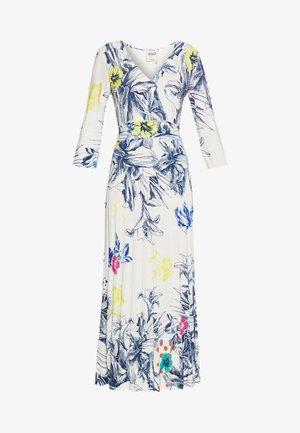 VNECK DRESS FLORAL PRINT - Vestido largo - white