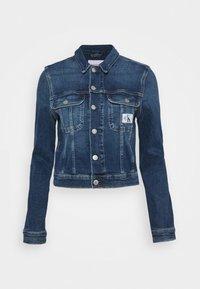 Calvin Klein Jeans - CROPPED 90S JACKET - Denim jacket - denim dark - 4