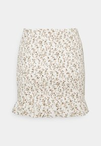 Abercrombie & Fitch - SMOCKED MINI - Mini skirt - white - 1