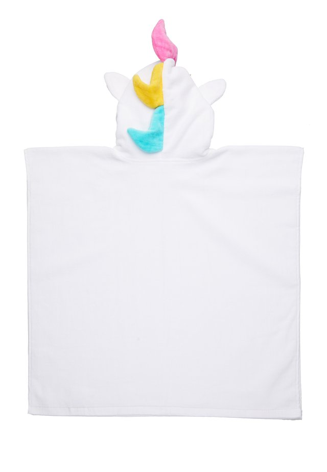 KIDS HOODED BEACH TOWEL - Dressing gown - white