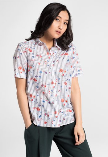 MODERN CLASSIC - Button-down blouse - red/blue/white