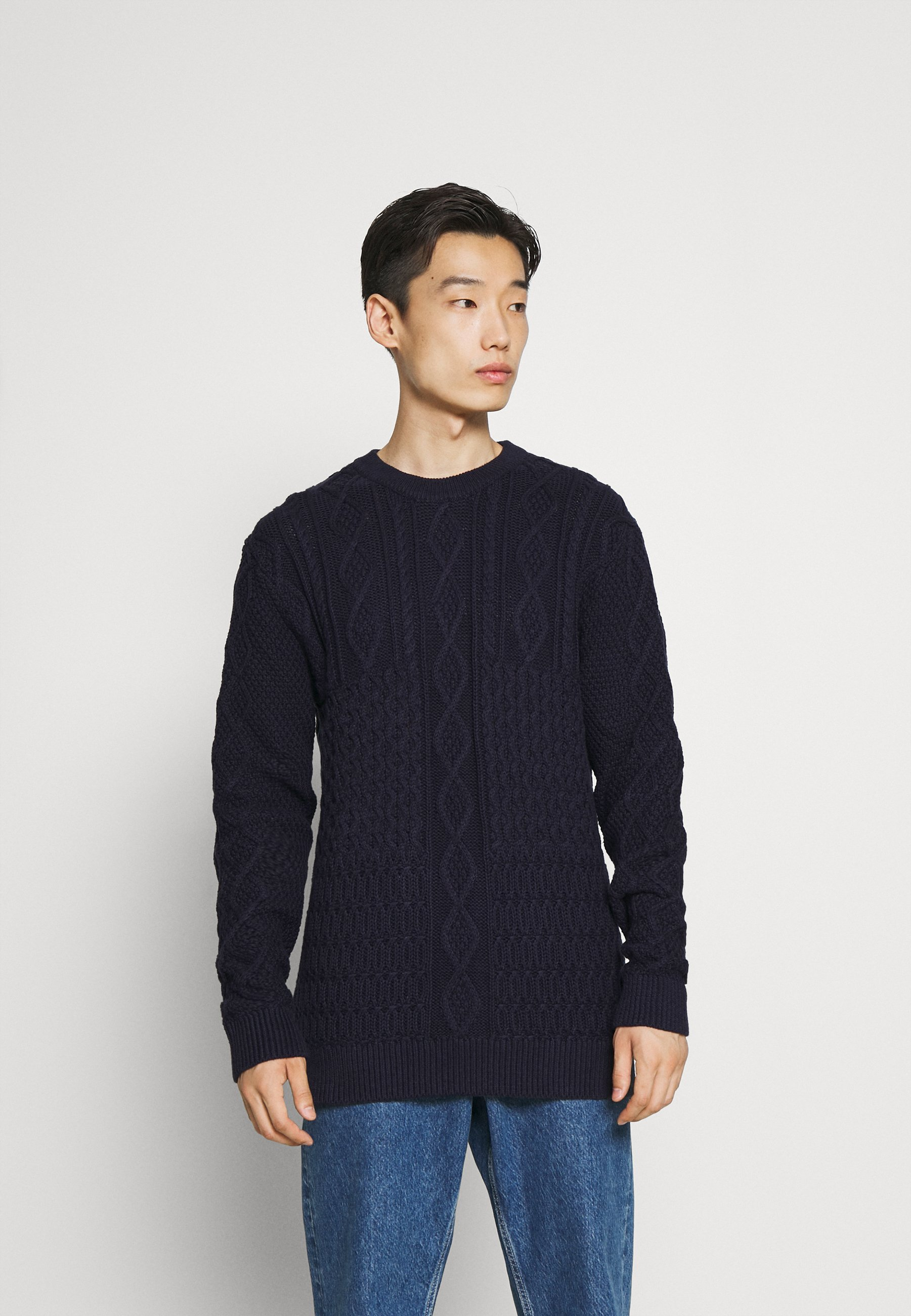 Homme PATCHWORK O NECK - Pullover