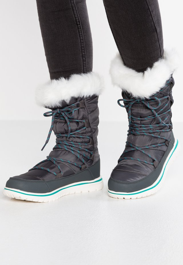 WOWI HUN - Winter boots - steel grey/turquoise blue