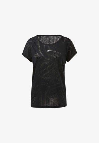 BURNOUT TEE - Camiseta estampada - Black