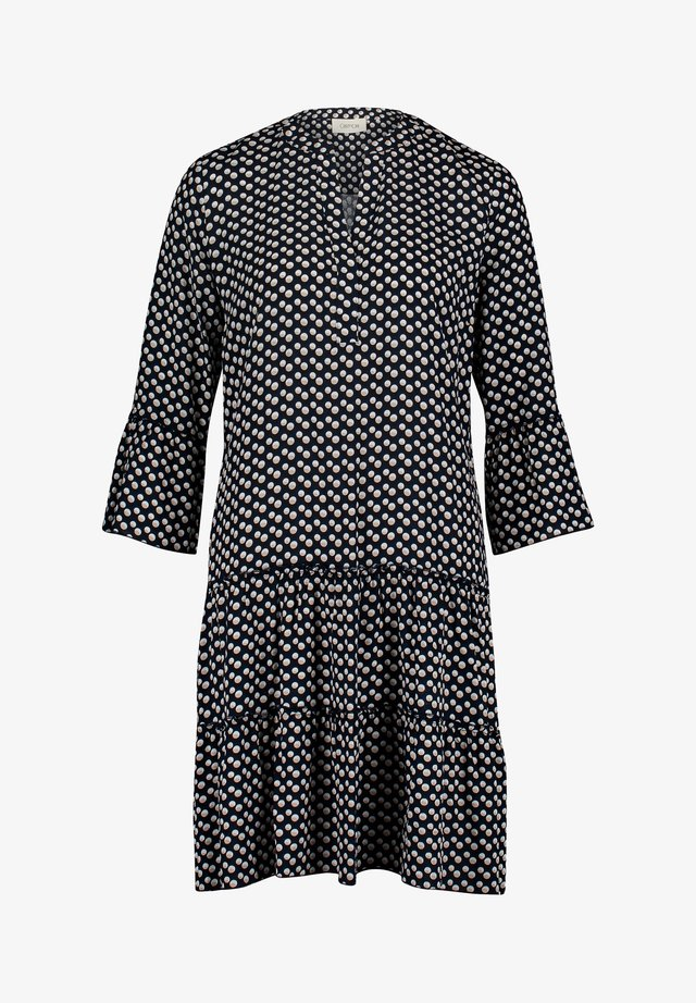 Korte jurk - dark blue/beige