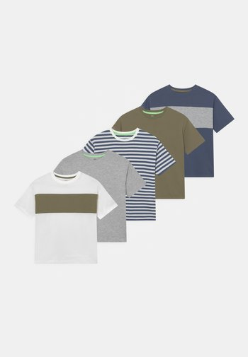 CHEST 5 PACK - T-shirt con stampa - blue