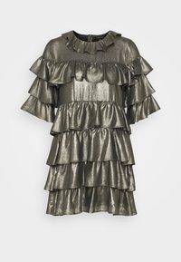 RUFFLE MINI DRESS - Robe de soirée - bronze