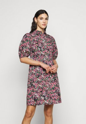 VMANNELINE SHIRT DRESS - Skjortekjole - black/yellow anneline