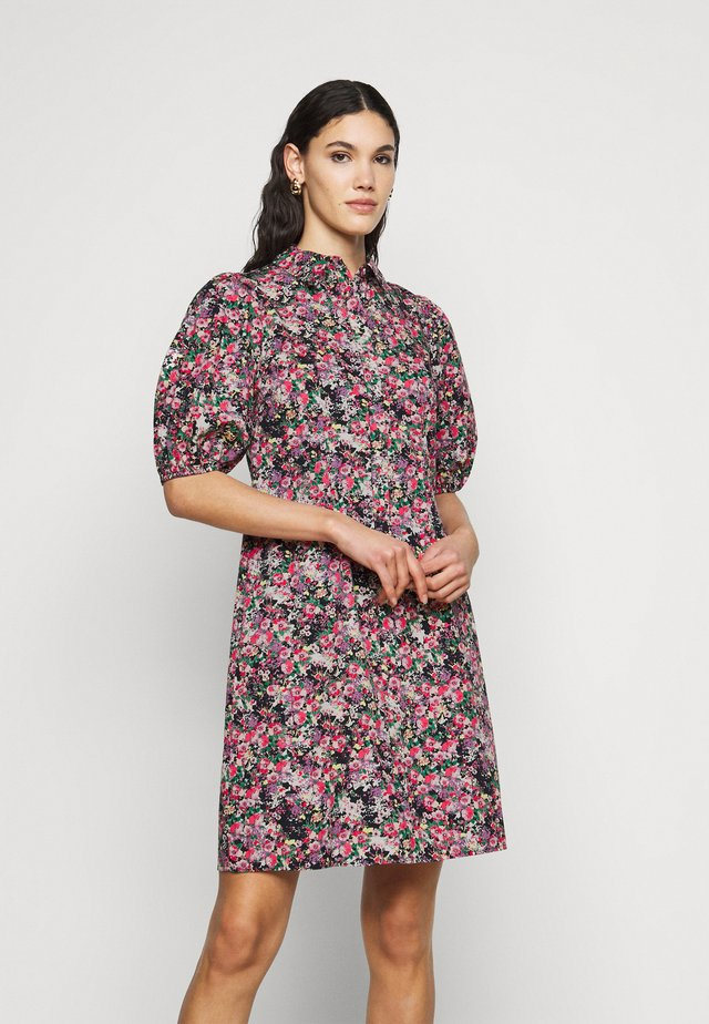 VMANNELINE SHIRT DRESS - Skjortekjole - black/yellow anneline
