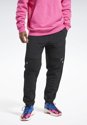 MYT QUILTED JOGGERS - Tracksuit bottoms - black