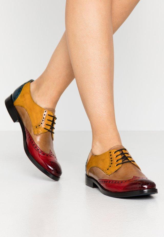 AMELIE  - Šněrovací boty - ruby/ocralce/lake