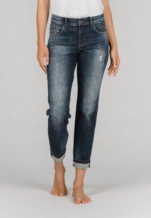 DARLEEN TU TAPE MIT SCHMUCKSTEINEN - Slim fit jeans - dunkelblau