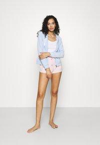 Gina Tricot - CECILIA HOODIE - Zip-up sweatshirt - pop blue - 1