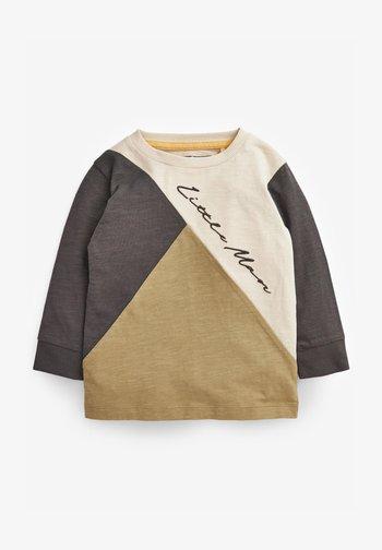 COLOURBLOCK LONG SLEEVE T-SHIRT (3MTHS-7YRS) - Sweatshirt - khaki
