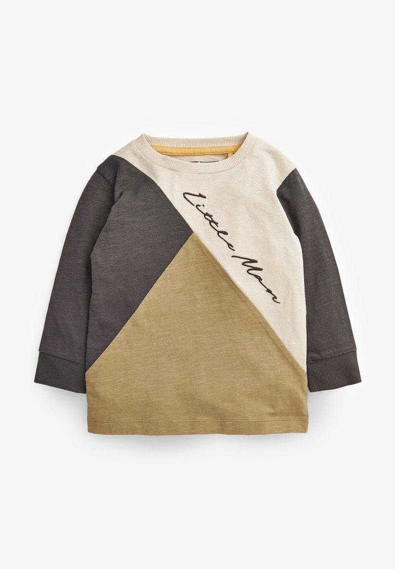 Next - COLOURBLOCK LONG SLEEVE T-SHIRT (3MTHS-7YRS) - Sweatshirt - khaki