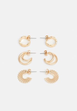 PCAZZY HOOP EARRINGS 3 PACK - Øreringe - gold-coloured