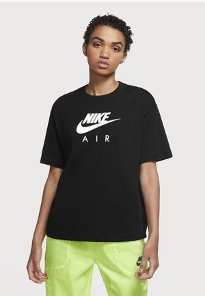 AIR TOP  - T-shirt z nadrukiem - black/white