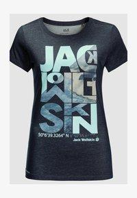 Jack Wolfskin - NAVIGATION - Print T-shirt - midnight blue - 2