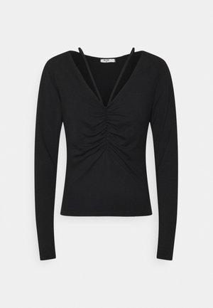 NECK DETAIL - Long sleeved top - black