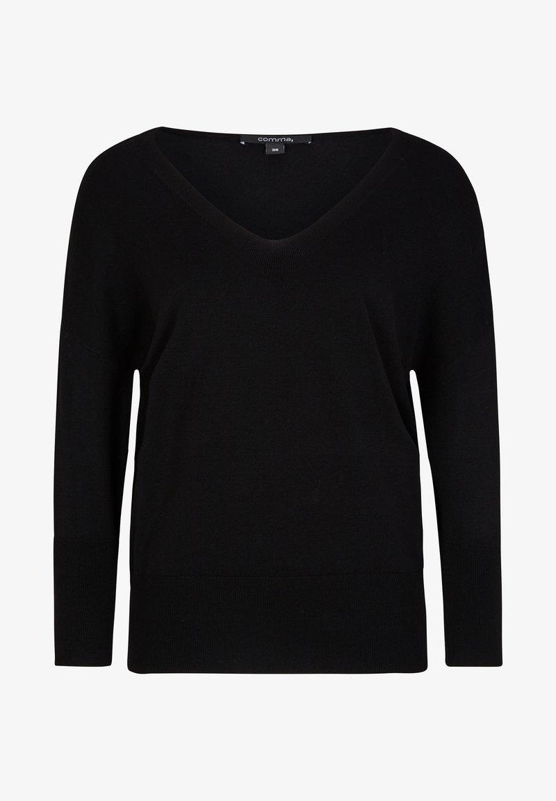 comma - MIT FLEDERMAUSARM - Jumper - black