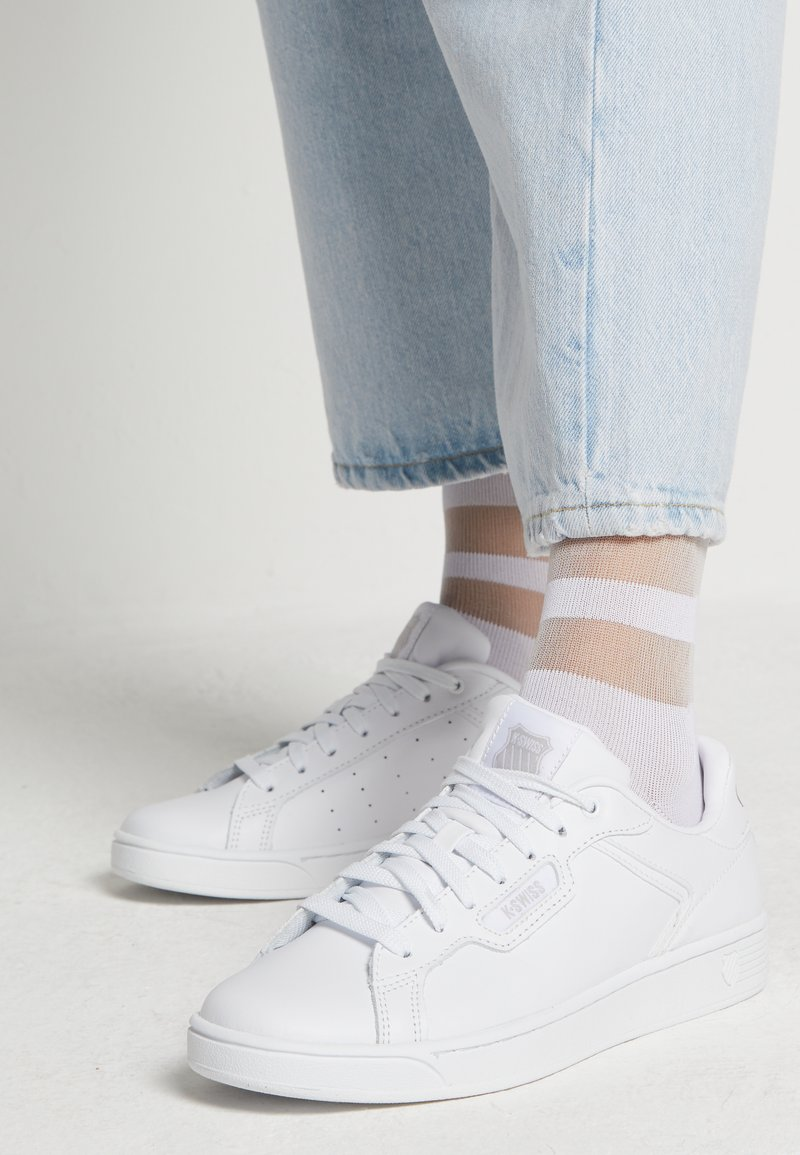 K-SWISS - CLEAN COURT CMF - Sneakers laag - white/gull gray