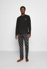 Calvin Klein Underwear - PANT SET - Pyjama set - black - 0