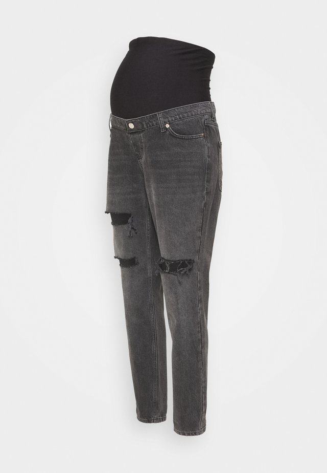 MOM - Jeans Skinny Fit - washed black