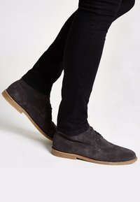 River Island - DESERT - Casual lace-ups - grey - 0
