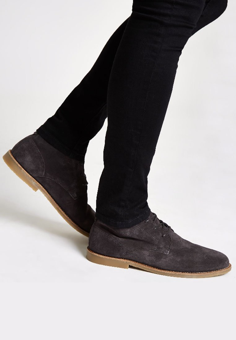 River Island - DESERT - Casual lace-ups - grey