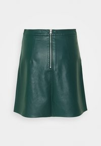 TOM TAILOR DENIM - MINI SKIRT - A-line skirt - deep green lake - 1