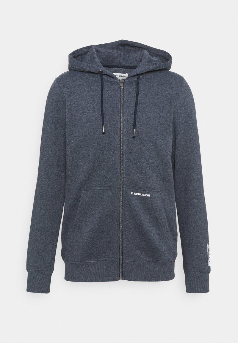 TOM TAILOR DENIM - HOODY JACKET  - Zip-up hoodie - sky captain blue