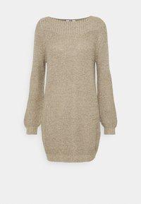 JDY - JDYWHITNEY MEGAN BOAT DRESS - Jumper dress - beige - 4