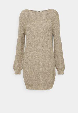 JDYWHITNEY MEGAN BOAT DRESS - Vestido de punto - beige