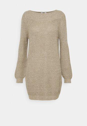 JDYWHITNEY MEGAN BOAT DRESS - Jumper dress - beige