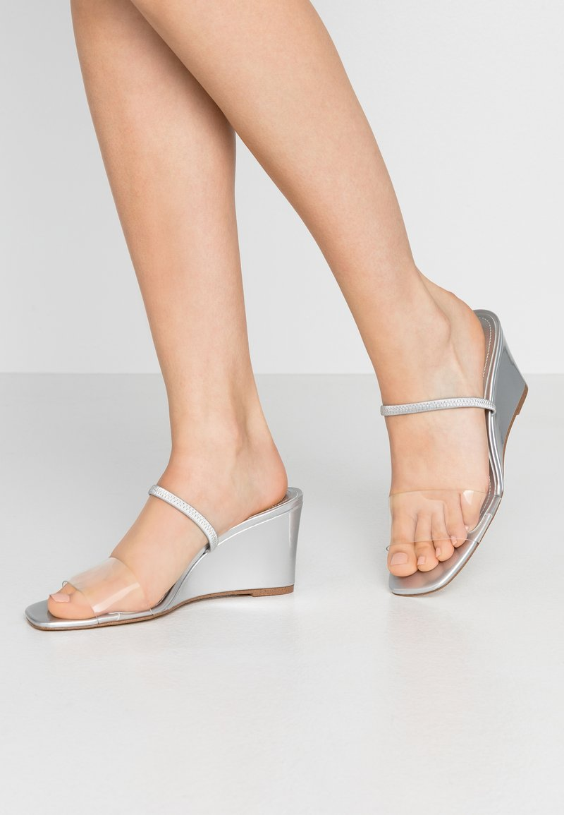 Who What Wear - THALIA - Heeled mules - silver