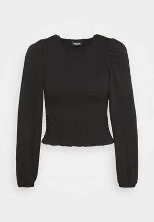 PCTINNA SMOCK  - Long sleeved top - black