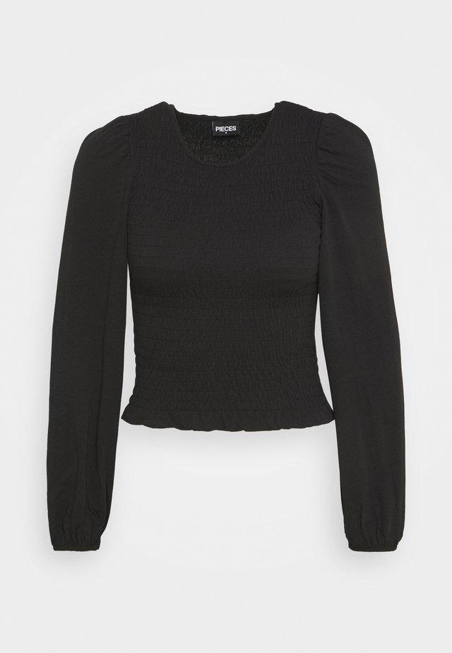 PCTINNA SMOCK  - Langærmede T-shirts - black